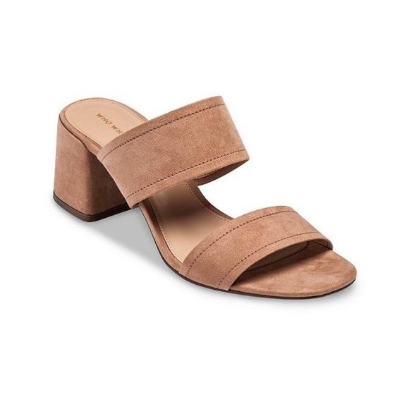 7661c457f7e Who What Wear Carolina Double Band Block Heel. M 5aee33bd077b97766626cc99